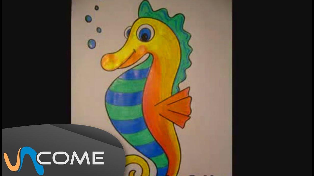 Disegnare Un Cavalluccio Marino In Pochi Passi Youtube