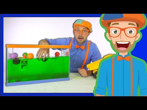 Blippi Sink or Float | Cool Science Experiment for Kids - Видео онлайн
