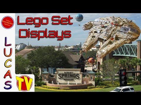 LEGO Store Set Displays in Disney Springs - UCS Millennium Falcon ...