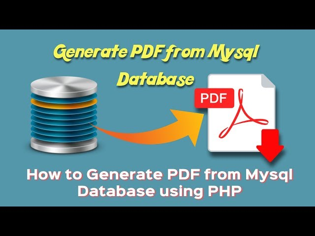 How to Generate PDF from Mysql Database using PHP | convert html to pdf |