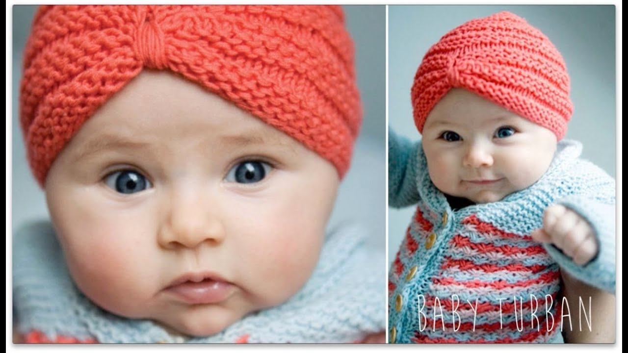 Knitting Tutorial Baby Turban Youtube