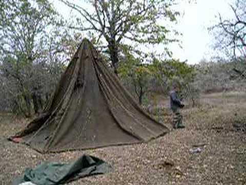 & GP Small Military Tent Raising - YouTube