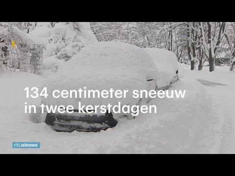 De witste kerst van 2017, 134 centimeter sneeuw - RTL NIEUWS