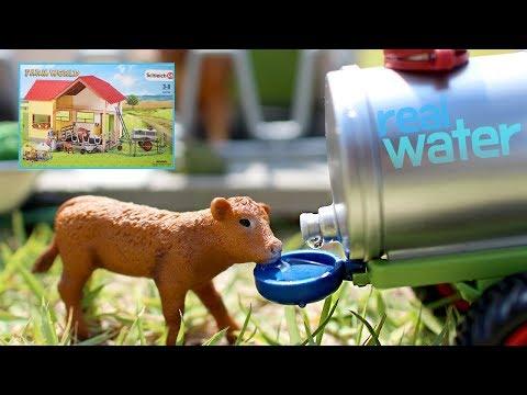 Farm Playset Where the cows can be milked. (Schleich 42394) 진짜로 소젖을 짜고 물을 먹이는 슐라이히 농장놀이