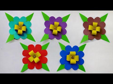 Diy Paper Flowers   Making Paper Flower   Making Paper Flower step by step   Tahiya Crafty Creation