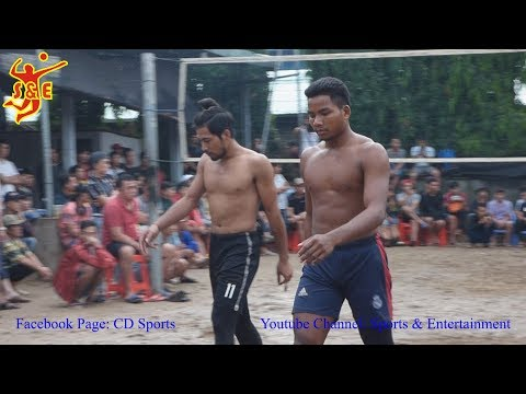 (Set 1)Cambodia 3 Vs 3 Vietnam International Volleyball || ម៉ាប់ឆ្វេង សុវណ្ណនាថ រាជ ប៉ះ តាយរៀតណាម