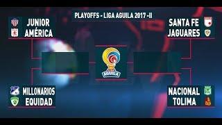 Sorteo playoffs Liga Aguila 2017-II
