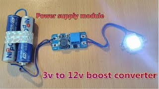3v to 12v DC boost converter using DC power supply module || series-1