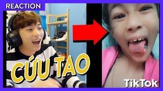 KHI CHANNY XEM TRẺ TRÂU CHƠI TIK TOK!!   Channy Oops Gang Reaction