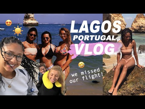 LAGOS, PORTUGAL VLOG | MISSING OUR FLIGHT, BEACHES & BARS! | Antoinette Victoria