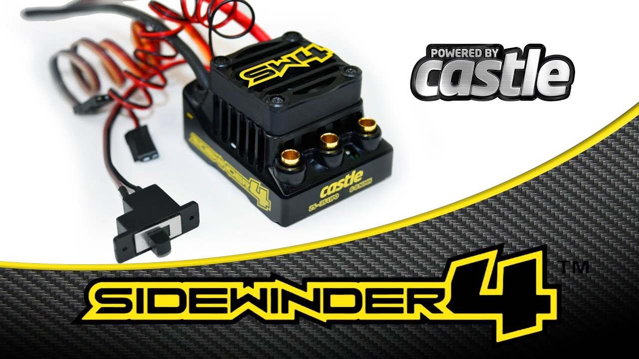THE ALL NEW SIDEWINDER 4 - Featuring Castle Creations Cryo-Drive