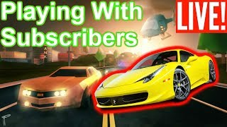 """""""BUYING A FERRARI 458!!!"""" ROBLOX JAILBREAK (playing with subs)"""