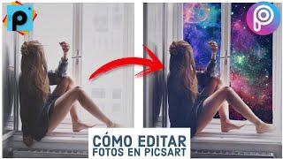 Cómo editar fotos en el móvil / Celular - Efecto Galaxia, PicsArt Tutorial