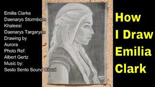 How to Draw Emilia Clarke Daenerys Stormborn Khaleesi GOT