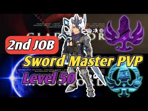 "2nd Job Sword Master PVP Level 50  Dragon Nest M ""Gladiator & Moonlord"""