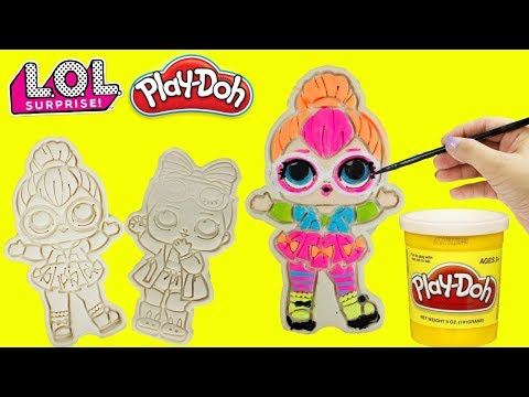 LOL Surprise PLAY DOH Cookies Snuggle Babe & Neon QT Craft DIY