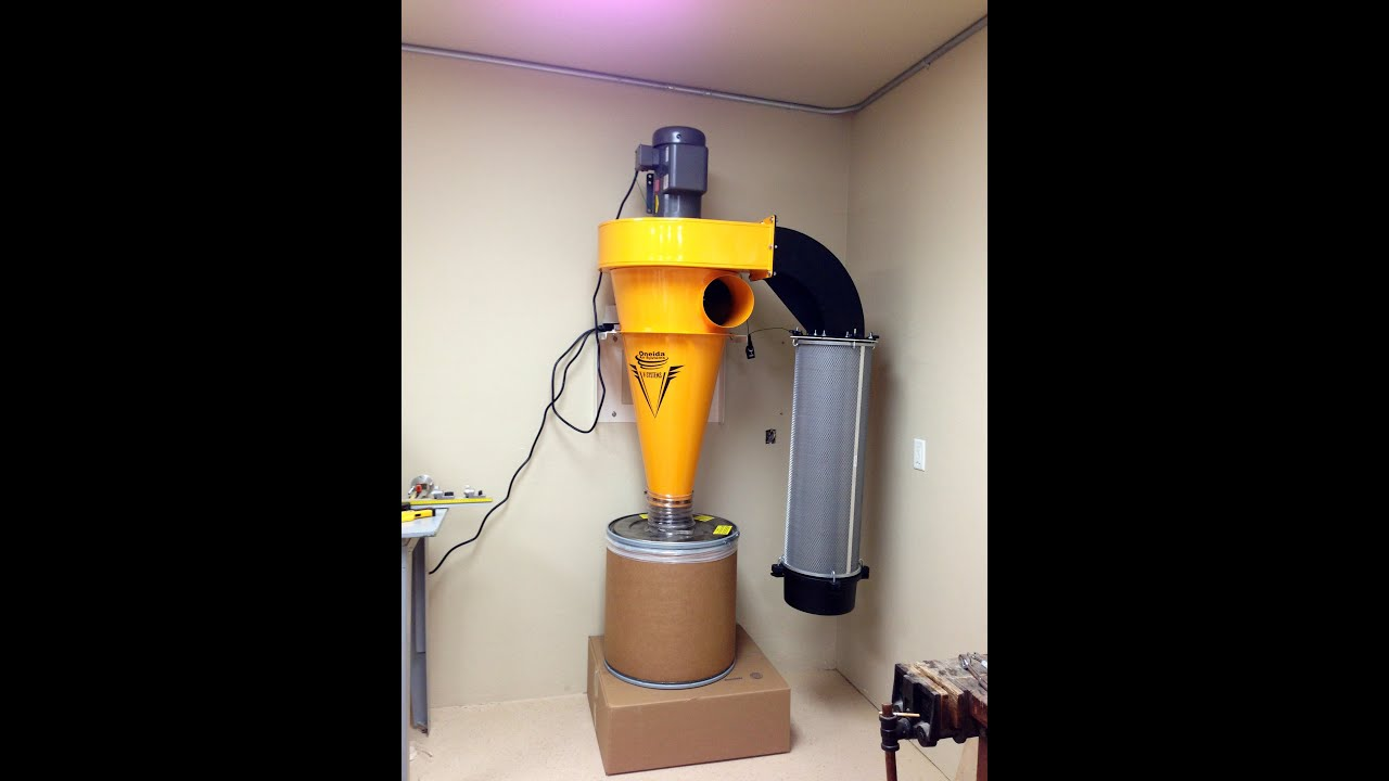 Oneida Dust Collector V-5000 w/Nordfab pipe Shop tour