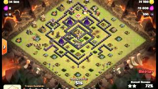 3 STAR GoWiWi TH9 WAR ATTACK STRATEGY by D B Cooper SEMARANG UNITE2 Clash Of Clans 19102015