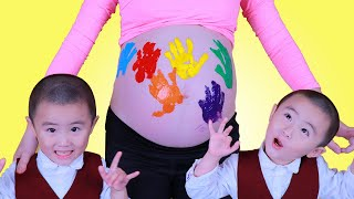 LEARN COLORS FOR CHILDREN BODY PAINT FINGER FAMILY COLOR SONG NURSERY RHYMES-BY WOOHEE TUBE