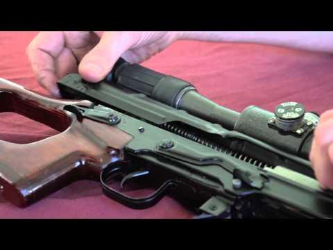 SVD-M Dragunov sniper rifle - gun disassembly