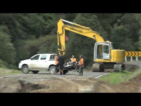 Lake Waikaremoana - State Highway 38 - Smashed by Flash Floods