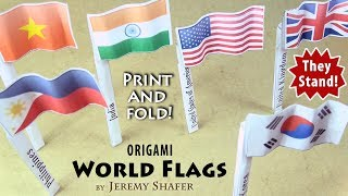 Origami World Flags - Print And Fold!