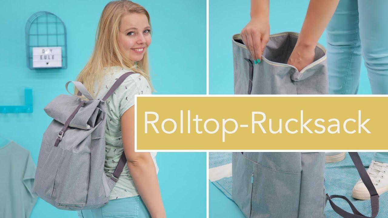 rolltopronja n hen robuster rolltop rucksack mit rei verschluss youtube. Black Bedroom Furniture Sets. Home Design Ideas