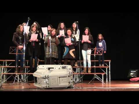 Coral Jovem Cristão da Paróquia de Aguada de Cima no 2º Festival de coros em Recardães