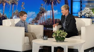 Ellen Meets Kid Geography Expert Landon Gregory
