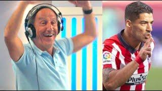 Petón se vuelve loco con el doblete de Suárez en su debut