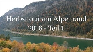 Herbsttour am Alpenrand 2018 - Teil 1 - Fall - Sylvensteinsee