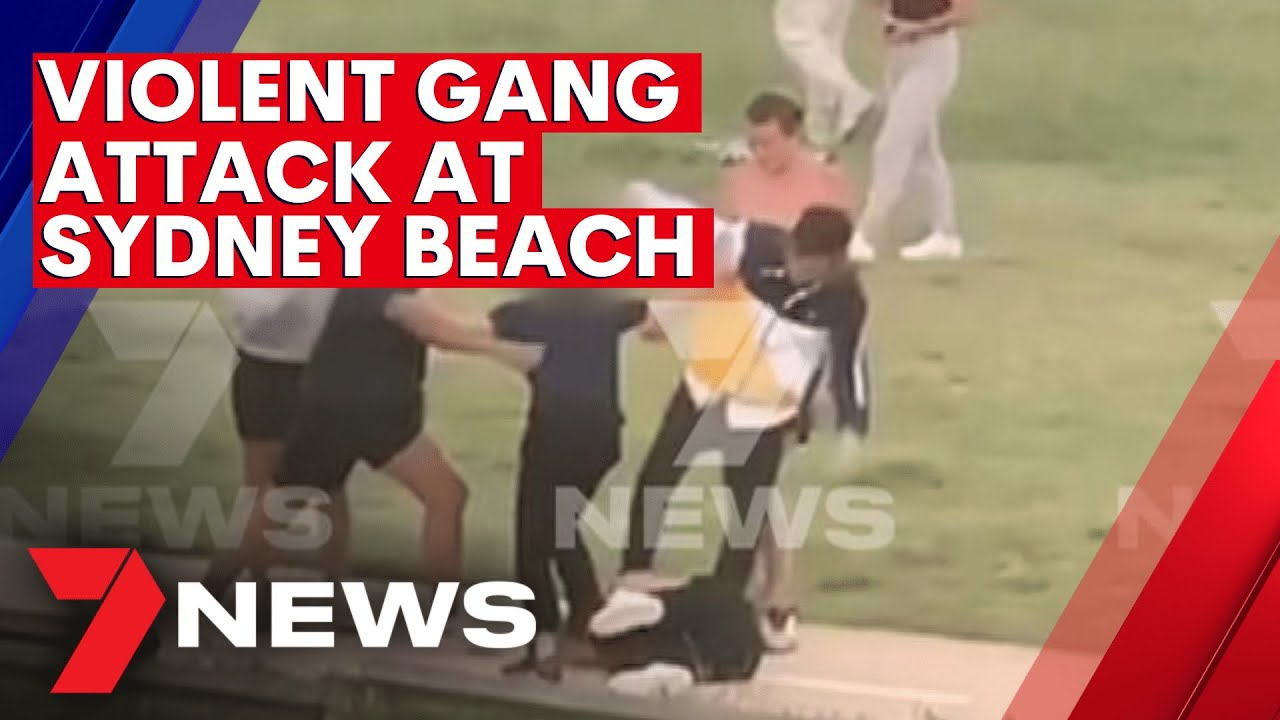 Victim viciously attacked wild violent gang brawl at Sydney beach | 7NEWS