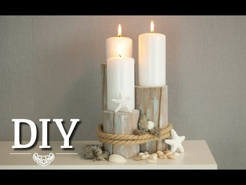 DIY Centerpiece fr maritime Tischdeko oder Hochzeitsdeko