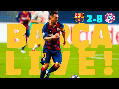 BARÇA LIVE | Barça 2 – 8 Bayern München | WARM UP & MATCH CENTER