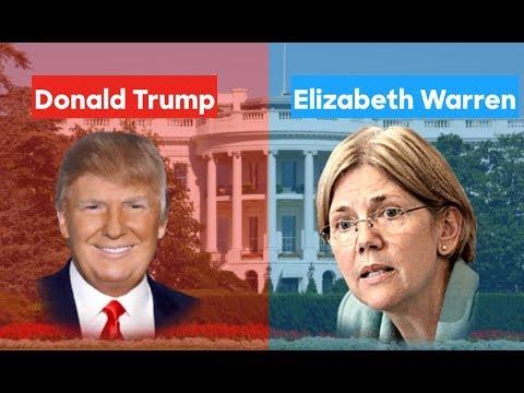 elizabeth warren  donald trump  election prediction youtube