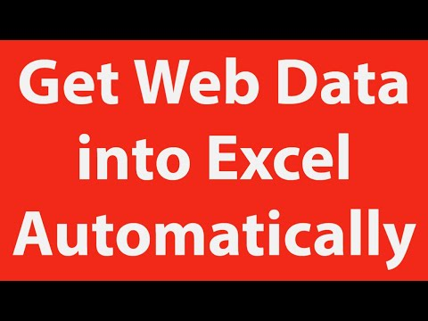 Get web page data into Excel using VBA