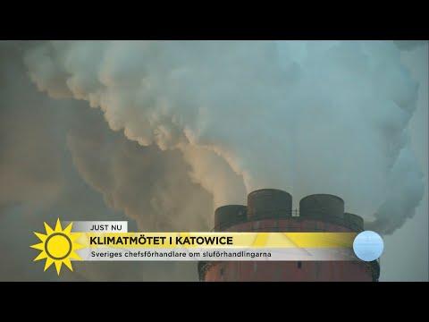 """""""Hopp - men positionerna hårdnar på klimatmötet"""" - Nyhetsmorgon TV4"""