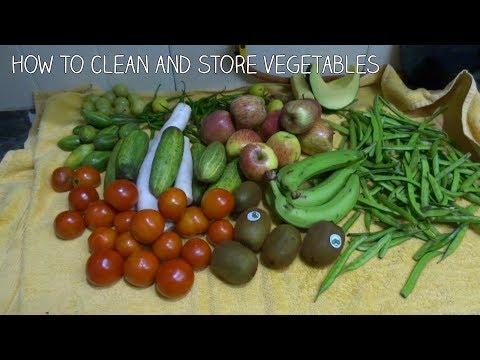 How to clean and store vegetables in hindi 2017,सब्जियों को धोने और स्टोर करने का आसान तरीका .