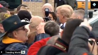 President Donald Trump arrives in Lewisburg, West Virginia On February 1, 2018