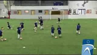 Ποδόσφαιρο Άγγιξε την μπάλα με Παιχνίδι διασκέδασης για ντρίπλα