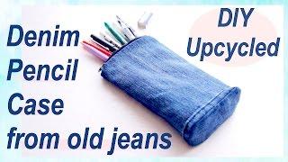 Refashion DIY Upcycled Denim Pencil Case デニム ✂️ リメイクチュートリアル / Sewing Tutorialㅣmadebyaya