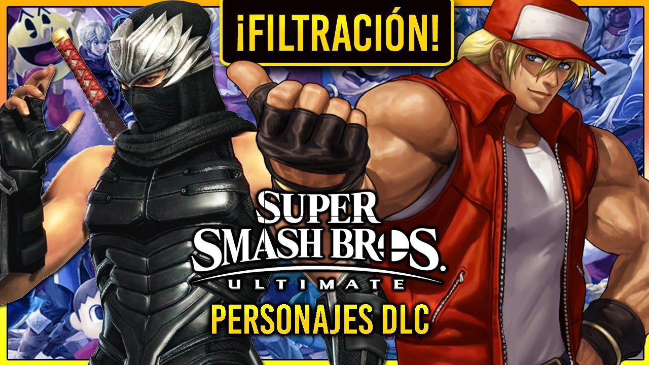 Las Filtraciones De Super Smash Bros Ultimate Son Una Locura Personaje De Snk Y Ryu Hayabusa