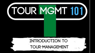 Tour Management 101   Episode 1 : Introduction to tour managing and the touring industry