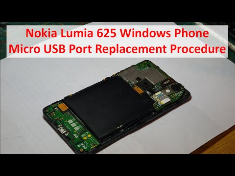 Nokia Lumia 625 Windows Phone - Micro USB Port Replacement Procedure - Mobile Phone Repair