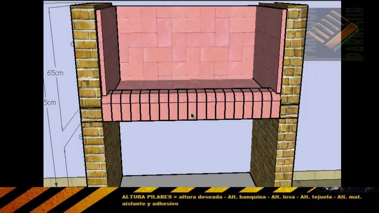 Como hacer una parrilla de material youtube Construir una pileta de ladrillos