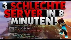3 SCHLECHTE SERVER IN 8 MINUTEN!   MINECRAFT SERVER VORSTELLUNG   GameStreamz