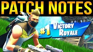 Fortnite Season 5 - New Battle Pass! v5.0 Patch Notes!
