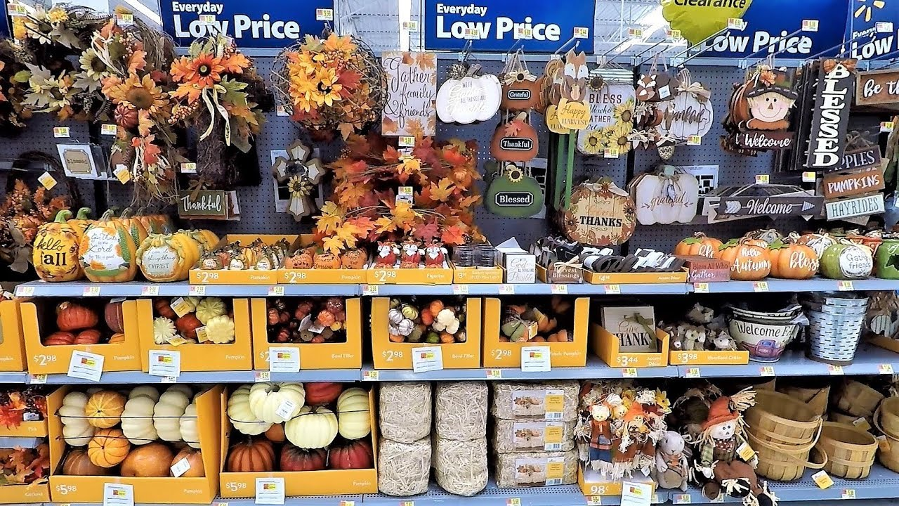 Walmart Fall Decor Halloween Decorations Thanksgiving Shopping