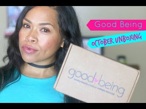 Good Being Box October UNBOXING//Eco Bliss Beauty