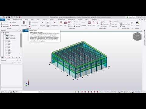 Modelado de Cargas en Tekla Structural Designer